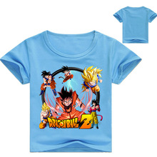 Z&Y 2-16Y Dragon Ball Z T Shirt Kids Super Saiyan Print Cartoon Summer Top Children Tshirt Boys T-shirt Short Sleeve Girl Shirts