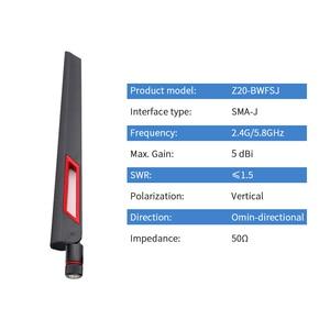 Image 2 - 2pcs Router Antenna Wifi 2.4GHz Omni 5.8GHz Antenna Dual Band High Gain Antena Signal Amplifier WLAN SMA Male Aerial Z11 BWFSJ