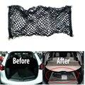 Tronco traseiro de Carga Bagagem Malha Net saco de rede rede de carga Traseira Suporte de armazenamento 4 Gancho preto cor SUV Proteção Do Carro Auto Parte 1 pc