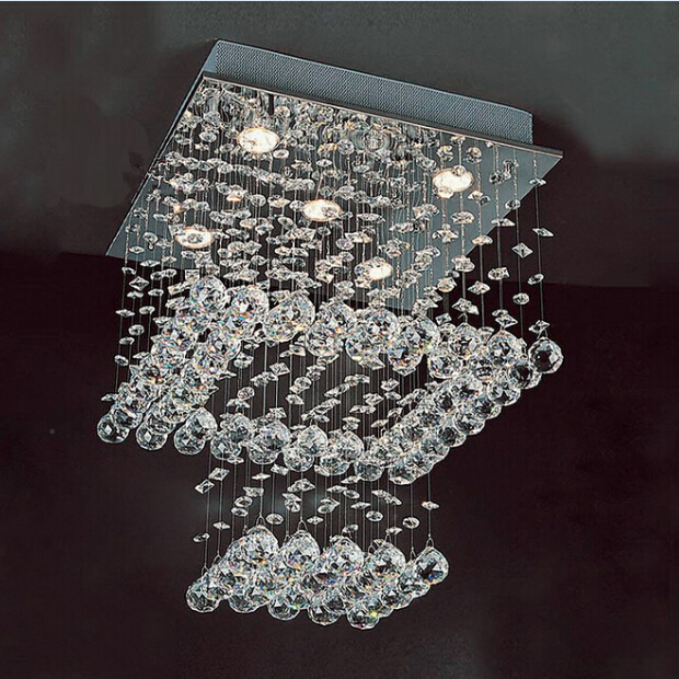 Free shipping HOT Modern First class K9 Crystal Chandelier Lamp lustres e pendentes L50xW50xH60cm 5 GU10