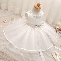 Pretty Baby Girl Wedding Dress Kids Party Vestidos Clothes Girl Newborn Baby 1 Year Birthday Dress