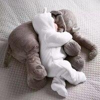 New Cartoon 65cm Large Plush Elephant Toy Kids Sleeping Back Cushion Baby Stuffed Pillow Elephant Dolls
