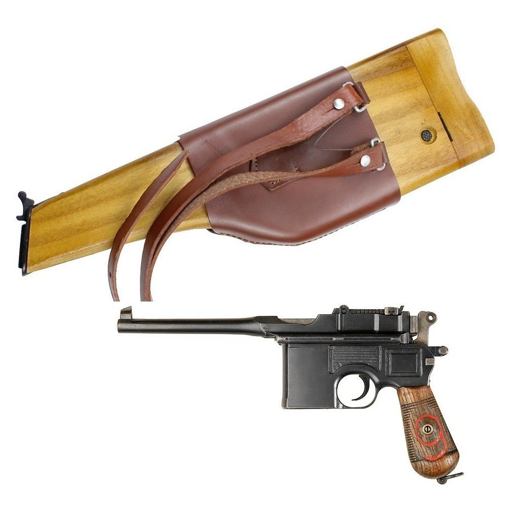Broomhandle Mauser & Mauser C96 Wooden Holster With Shoulder Strap Sling German In Stock NO Gun