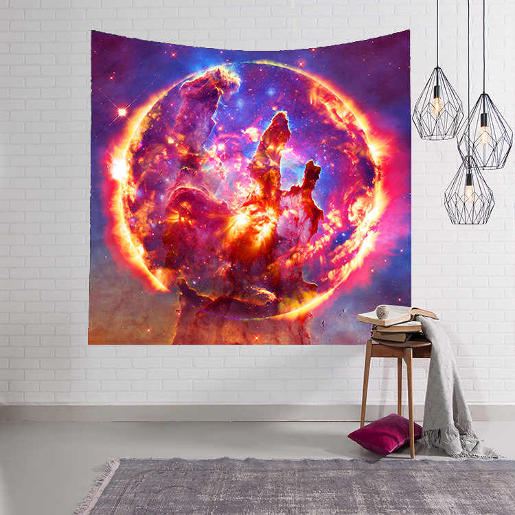 LYN & GY Galaxy Tapestry Space Wall Tapestry สำหรับตกแต่งผ้า Tapestry แขวนผนัง 100X150/ 130*150/150*230 ซม.
