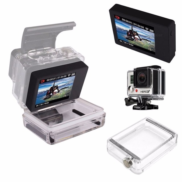 Tekcam Lcd Display For Gopro Hero4 External Bacpac Lcd Display Screen For Gopro Hero4 Black Edition Hero3 Plus In Sports Camcorder Cases From Consumer