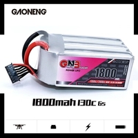 Gaoneng GN3 1800MAH 1800 MAH 6S 6s1p 130C 22.2V Lipo Battery For FPV Racing Drone Rechargeable Lipo Battery