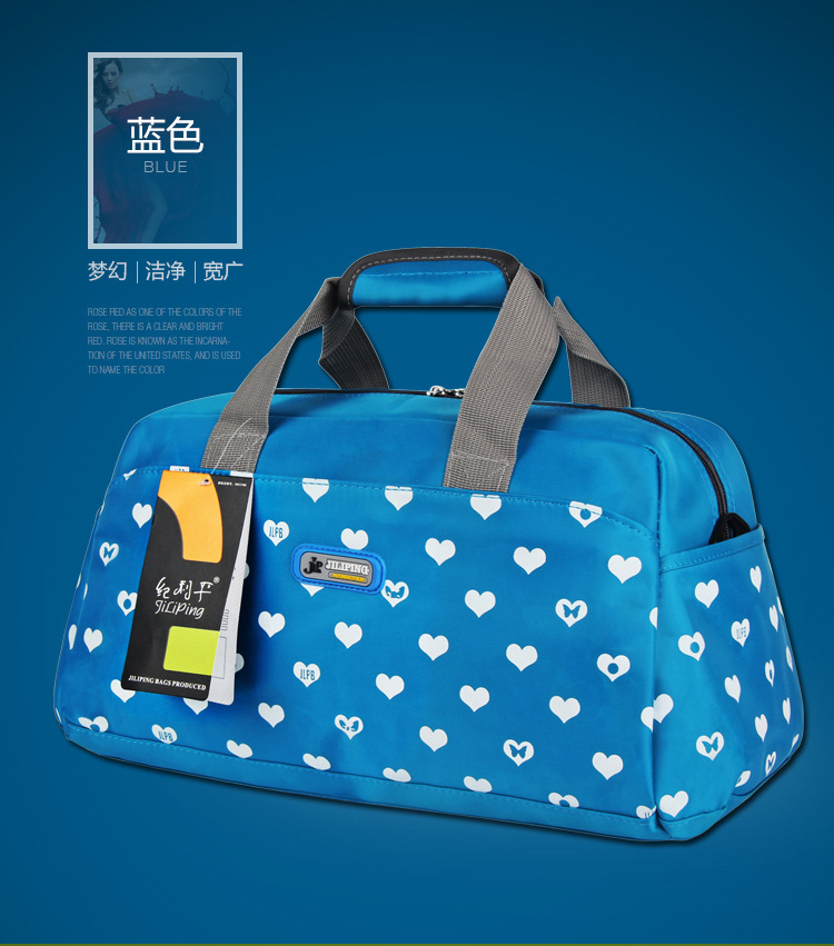 2019 Women'S Sports Bag Nylon Waterproof Heart Sport Gym Bag Sports Bags  For Women Gym Fitness Handbags Pouch Yoga Bags Ladies #532612 From