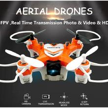 Wifi FPV Remote Control Mini Drone 2.4G 4CH 6 Axis LED Camera HD Video RC Quadcopter Toy Helicoptero Children Kid Gift Toys