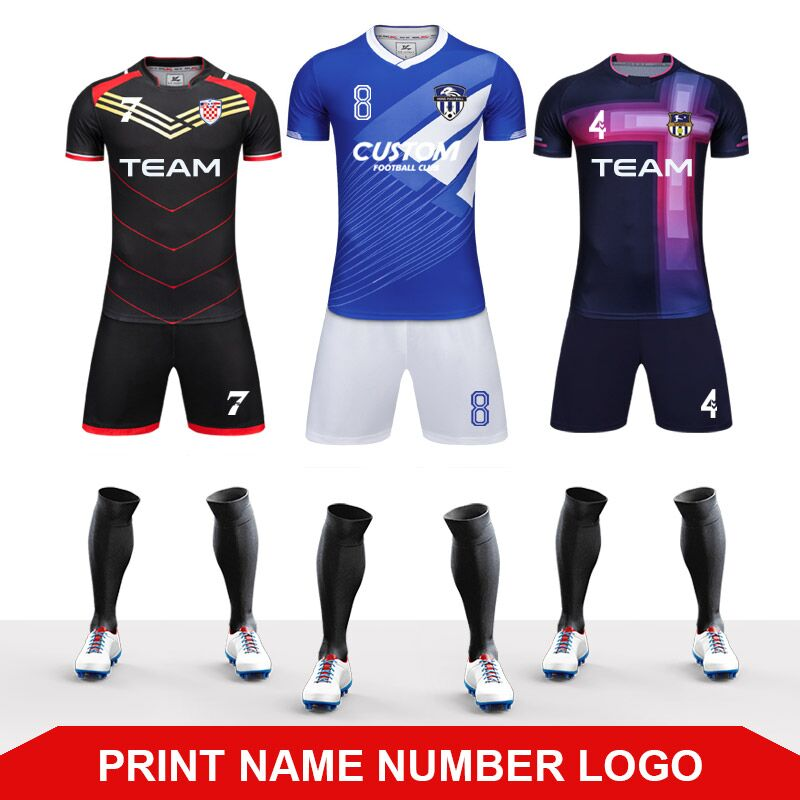 00dfd0137d US $17.37 52% OFF|Jersey Soccer 2019 Survement Football Kit Mens Sports  Suits Professional Football Jerseys Custom Design Tracksuit Soccer  Uniform-in ...