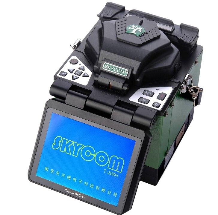 Skycom T-208H 5 pouces 8s épissage rapide fibre Fusion épisseuse FTTH Machine à souder les fibres