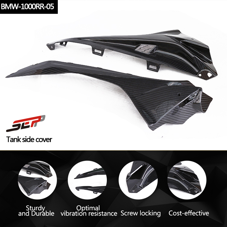 SMOKU Motorcycle Accessories Left & Right Carbon Fiber Tank Side Fairings Cover Protector For BMW S1000RR 2014-2017