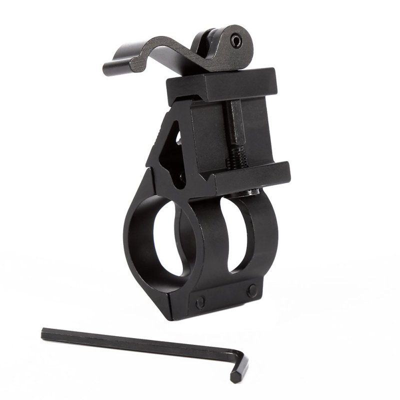 Tactical 1 Offset Picatinny/Weaver Rail Mount for Flashlights with Quick Release