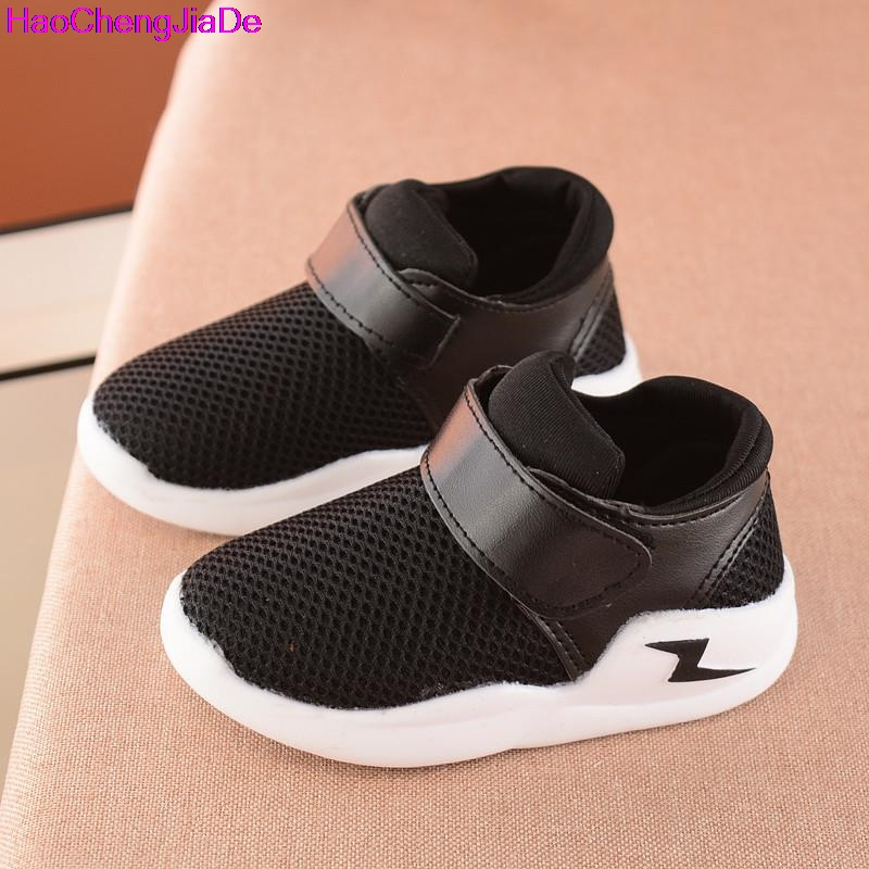 цены HaoChengJiaDe Summer Breathable Children Shoes Boys Girls Shoes Fashion Cut-Outs Kids Sneakers Casual Boys Girls Soft Sneakers