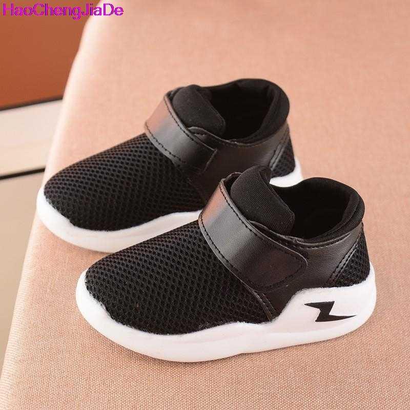 6f8461e83 HaoChengJiaDe/Летняя дышащая детская обувь для мальчиков и девочек, модные детские  кроссовки с вырезами