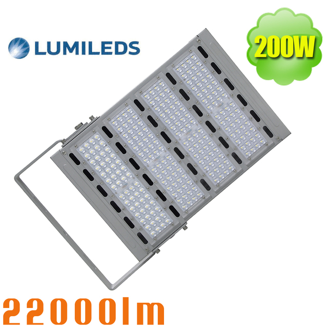 ip66 outdoor led flood light 200w outside pole wall lighting with daylight white lumileds chips