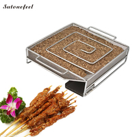 SutoneFeel Cold Smoking for Bacon Square Cold Smoke Generator for Salmon BBQ Meshes Grill Barbecue Accessories
