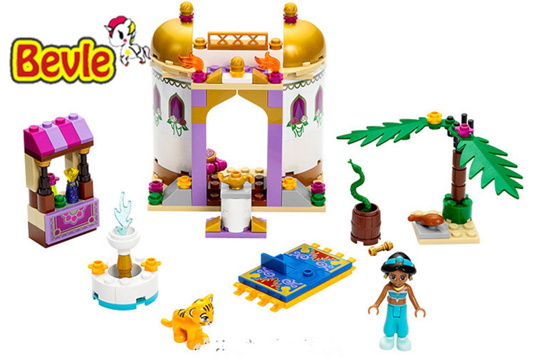 Bevle Bela 10434 Friends Dream Sleeping Girl Exotic Palace Princess Girl Building Blocks Toys Compatible with Lepin 41061 new bela friends series girls princess jasmine exotic palacepanorama minifigures building blocks girl toys