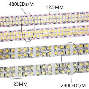Image 2 - 1/2/3/4/5M الصمام قطاع 2835 240 المصابيح/m 480 المصابيح/m DC12V عالية السطوع 2835 مرنة مصباح ليد الدافئة الأبيض/الأبيض 5 متر/وحدة