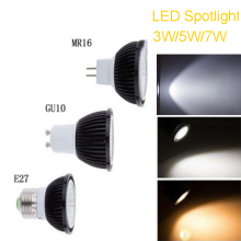 1pc  AC 220V GU10/E27 3W 5W 7W COB Led Spot Light Spotlight LED Bulb Lamp