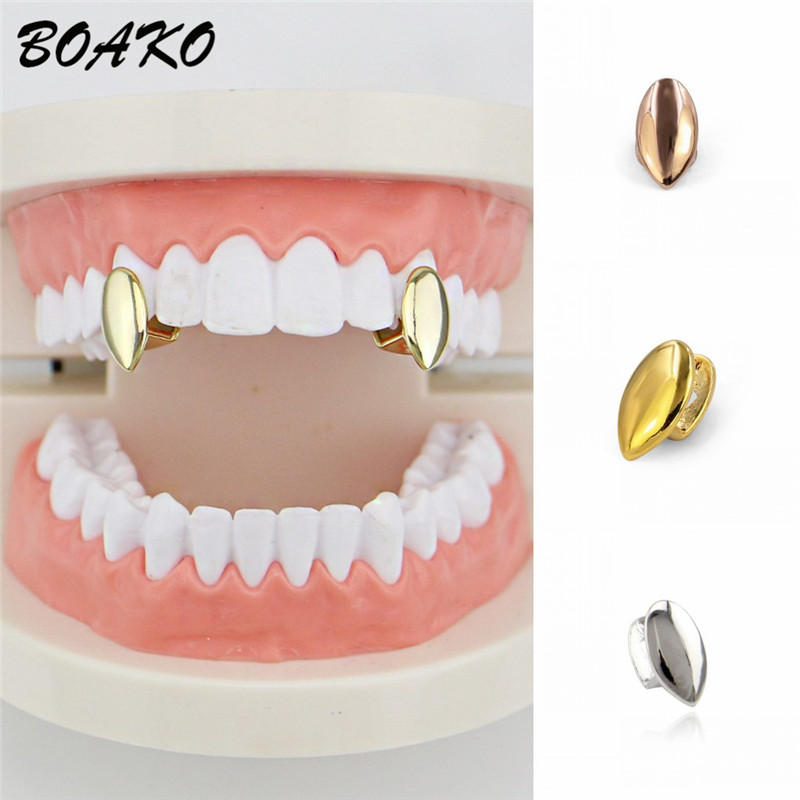 BOAKO Body-Jewelry Mold-Caps Dental-Grill Rock Hip-Hop Rapper Party Trendy Single Bling title=