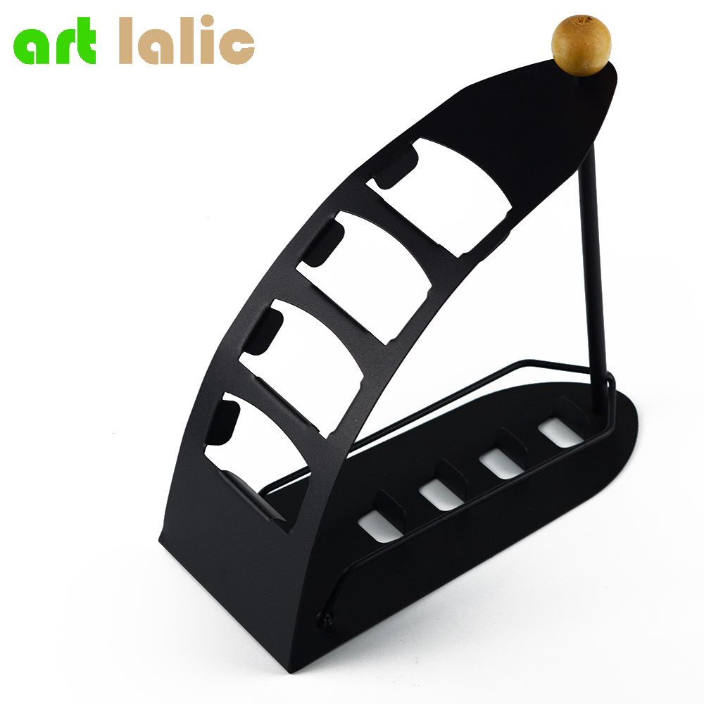Bestselling Fjernbetjening TV Holder / Opbevaring Caddy - Black Metal Arched