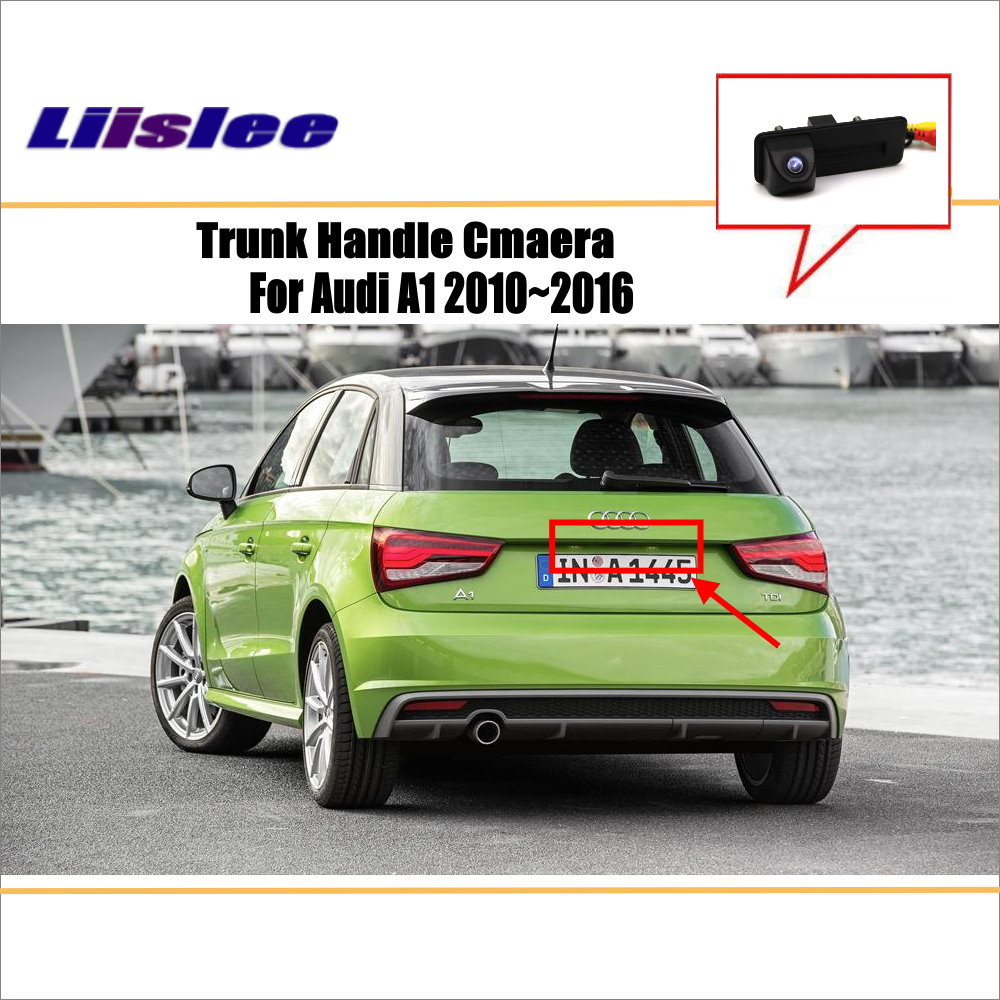 For Audi A1 2010~2016 - Reverse Back Up Camera / Parking Camera / HD CCD RCA NTST PAL / Trunk Handle OEM