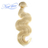 New Star Hair Brazilian Honey Blonde Body wave 100% Human Hair Thick 1/3/4 Bundles Weaving 10A Remy 613 Hair Free Shipping