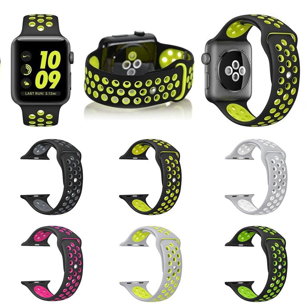 Smart Band 38/42mm Silikon Sport für Apple Uhr Nike Tragbare band uhr Uhrenarmbänder für Apple Watch3/2/1
