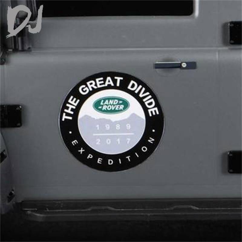 1PCS DC-DJ RC 1:10 Metal Sticker For Land Rover Defender LOGOTRAXXAS TRX-4 RC4WD D90 D110 DJC-9045