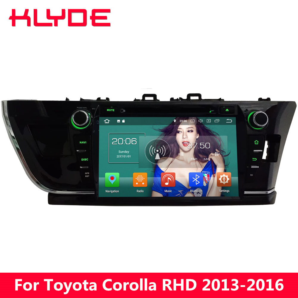 KLYDE 9 4G WIFI Octa Core Android 8.0 4GB RAM 32GB ROM Car DVD Player Radio Stereo For Toyota Corolla 2013 2014 2015 2016 RHD