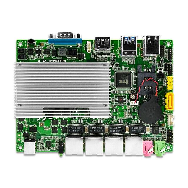 Qotom Mini PC pfsense 4 LAN Core i3 i5 i7 процессор Fanless роутер брандмауэр мини пк 3
