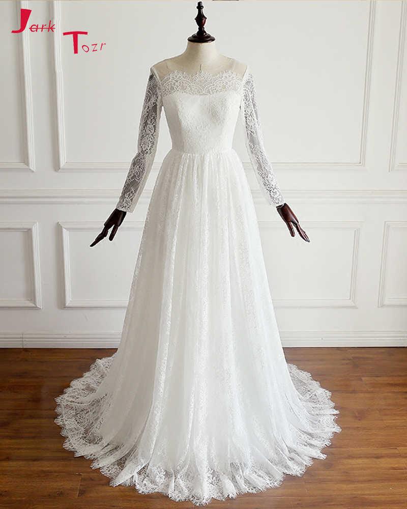 bae17d22339 Jark Tozr индивидуальный заказ с длинным рукавом свадебные платья  Интернет-магазин Китай Vestidos De Renda