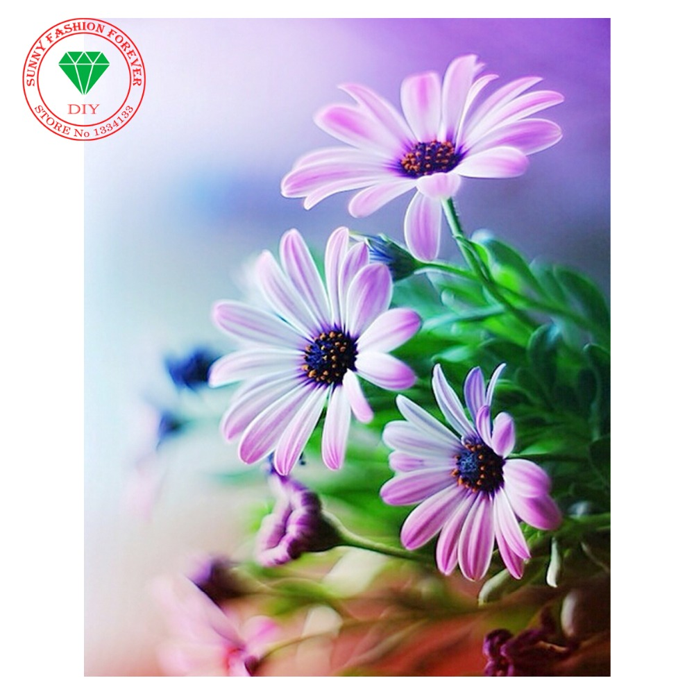 Вышивка цветок для мамы