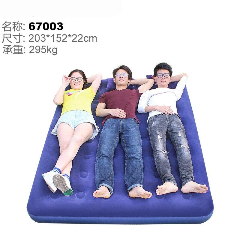 2-3persons colchão inflável cama inflável cama colchão de ar cama cheia de gás do agregado familiar ao ar livre portátil 203*152*22 cm