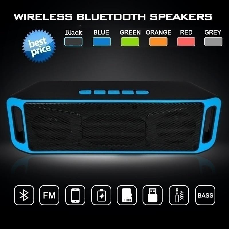 N20C Bluetooth Speakers Newest V3.0 Hifi Wireless Bass Bluetooth Stereo Speaker TF USB Flash FM Radio