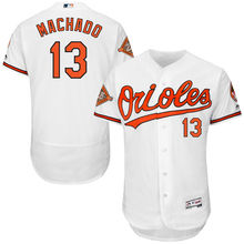 0b791ba48 MLB Baltimore Orioles Manny Machado Majestic Home White On-Field Flex Base  Authentic Men s Baseball