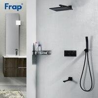 Frap душ Системы классический черный смеситель для ванной Ванна Смеситель кран настенный душ Системы душ набор панелей