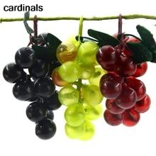 3 шт. искусственный зеленый виноград пластик поддельные декоративные фрукты Реалистичные Дома Свадебная вечеринка сад декор мини моделирование фрукты
