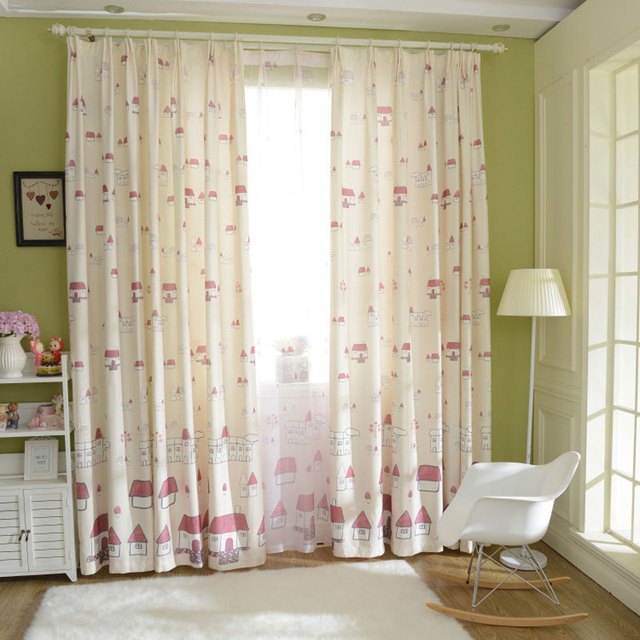 Superb Top Fashionable Green Hut Curtains Living Room Bedroom Cute Children  Curtains Childrenu0027s Dress Curtains Cribs Curtains