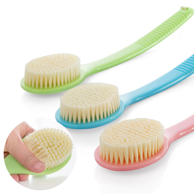 Soft Hair Brush Long Handle Bathroom Women Rub Bath Wash Back Summer Body Cleaner