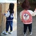 Дети Куртка Осень Baby Boy Девушки Пальто Куртки Stella Ласточка Вышитые Мальчиков Parka Куртки Пальто Молния Детская Одежда