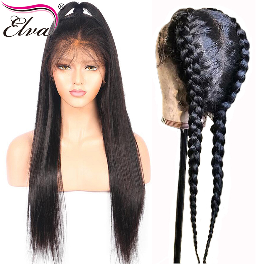 Straight Hair 150% Density Brazilian Remy Pre-Plucked Natural Hairline 13x6 Lace Front Human Hair Wig Bleach Knot With Baby Hair