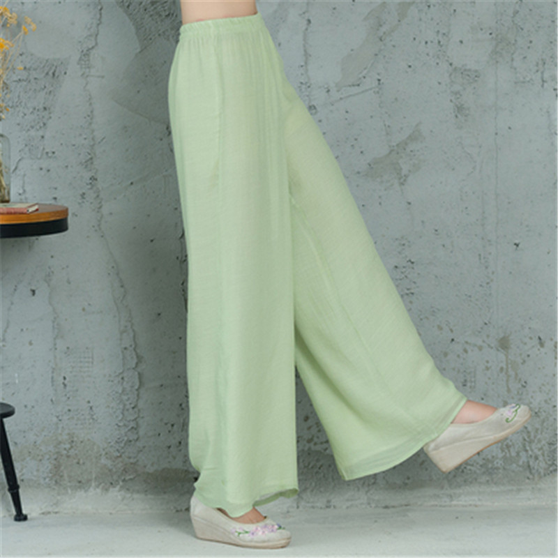 New Elegant Ladies Trousers   Wide     Leg     Pants   2019 Summer Casual Woman Clothing Fashion   Pants   Women Harajuku Feminina Vintage Brand