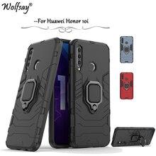 Huawei Honor 10i Case Armor Metal Finger Ring Holder Hard Phone For Back Cover Fundas
