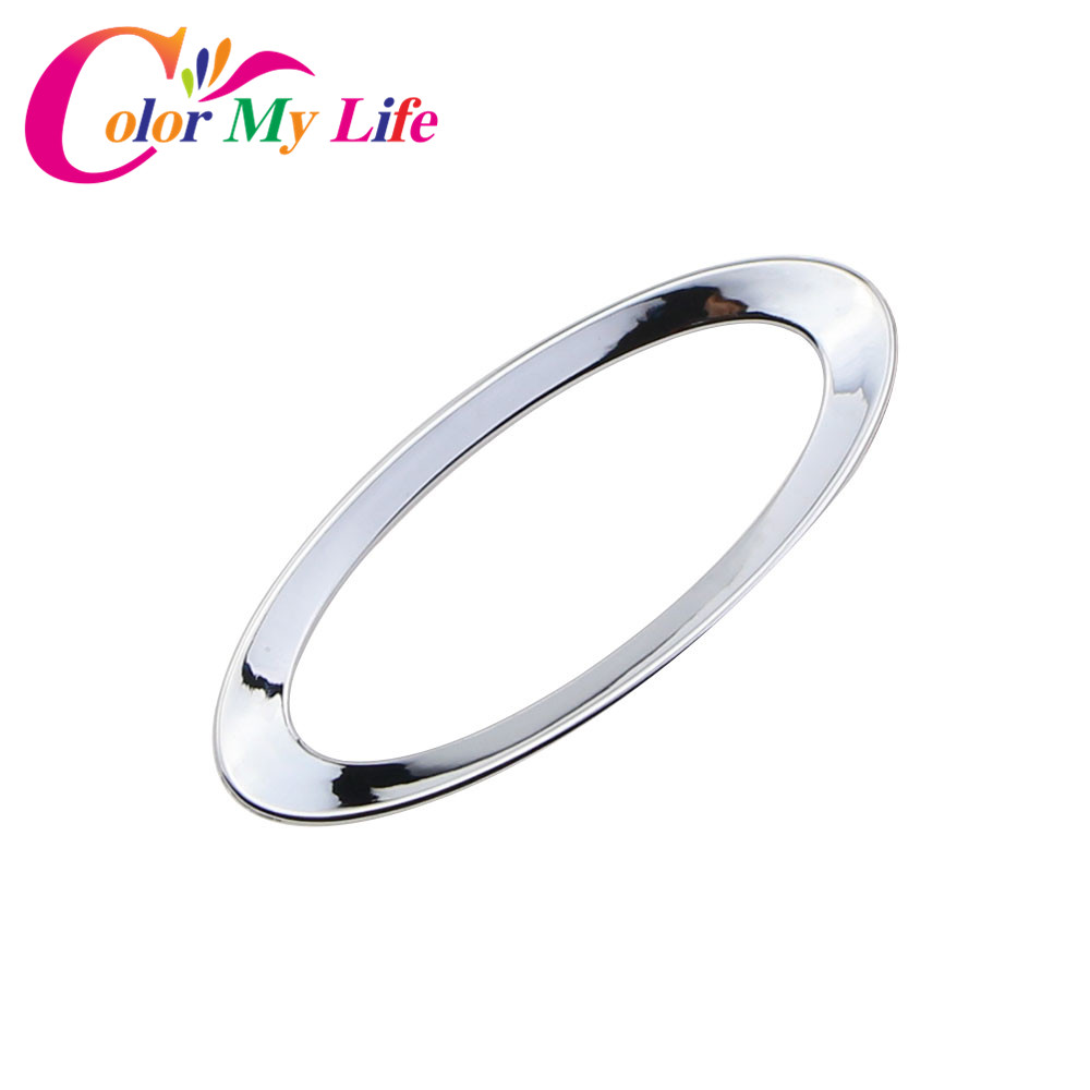 Color My Life ABS Chrome Car Steering Wheel Logo Circle Trim Sticker for Ford Ecosport Fiesta MK7 Focus 2 4 MK2 MK4 Accessories