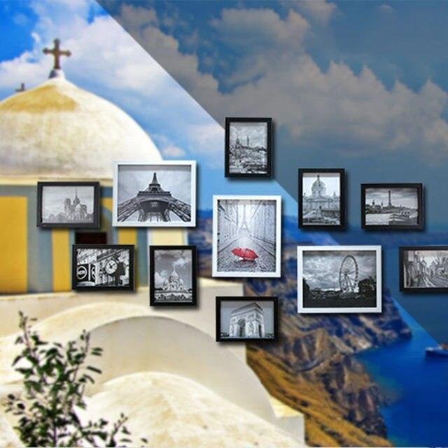 Tienda Online 11 unids/lote madera Multi marco de fotos marcos pared ...