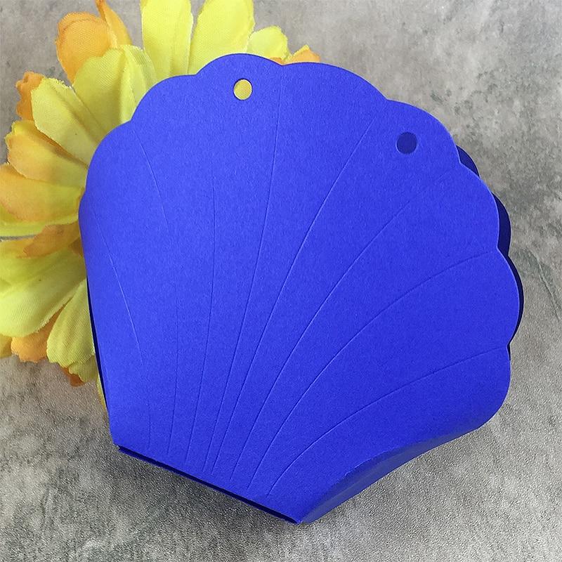 Shell candy dárková krabička Scrapbook řezací raznice Metal Die - Umění, řemesla a šití