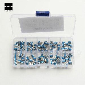 100 шт./кор. RM065 углеродная пленка, горизонтальный подстроечный потенциометр, набор 10 значений, переменный резистор, потенциометр 500R - 1 м