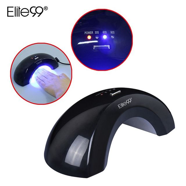 Elite99 6W Led Nail Lamp Manicure Gel Varnish Lamp Nail Dryer UV Lamp Beauty Salon Light 30s/60s/90s For Nail Art Curing DIY
