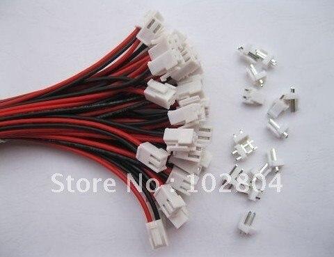 200 шт. 3,96 мм VH3.96 2 контактный разъем для провода с мужской pin удлинитель тепсельного разъема 22AWG 2 цвета Красного и черного цветов 300 мм(12 дюймов) играет ведущую роль в